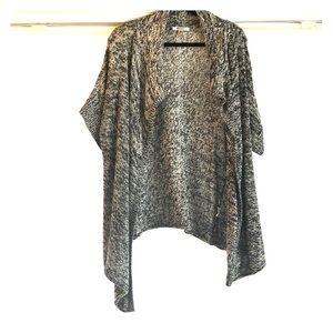 DKNYC open front, short sleeve, sweater
